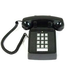 Cortelco ITT 2500 V BK Traditional Desk Telephone Analog Volume Wheel Black $52.88