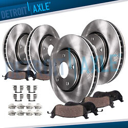 AWD 2007 2008 2009 Edge Lincoln MKX Front Rear Brake Rotors + Ceramic Pads $129.20