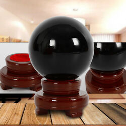 100MM Natural Black Obsidian Sphere Large Crystal Ball Healing Stone STAND $29.00