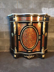 Antique and Important Sideboard Boulle with Top in Marble  - Restored