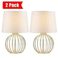 Cotulin Gloden Hollowed Out Living Rm Small Bedroom Studying Bedside Lamps 2 PK $58.50