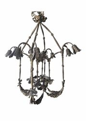 early 20th century french grand brass chandelier