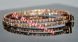 2.80cts NATURAL DIAMOND 14K ROSE GOLD WEDDING ANNIVERSARY HOOPS  EARRING