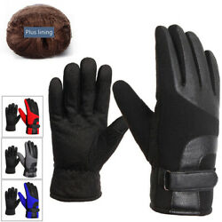 Touch Screen Gloves for MenCold Weather Windproof Thermal Glove for Smartphone $8.99