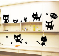 Cute Cat Vinyl Home Room Decor Laptop Wall Sticker Bedroom Removable Mural $5.95