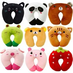 Cute Animal U-Shape Pillow For Baby Kid Travel Car Seat Neck Rest Soft Cotton