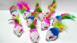 Fur Mice Cat Toys Soft and Durable for Play Catnip Mice for kittens. 10 Pack $6.58
