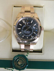 2018 Unworn Rolex Sky-Dweller 18ct Everose Gold 42mm Ref 326935 Box and papers