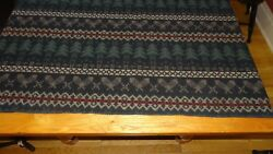 Vintage Woolrich BlanketThrow Cabin Decor Snowshoe and Pinetree