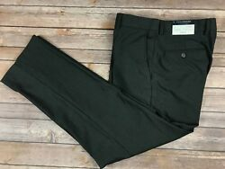 NWT $85 TAILORBYRD Mens Charcoal Gray Modern Fit Flat Front Pants