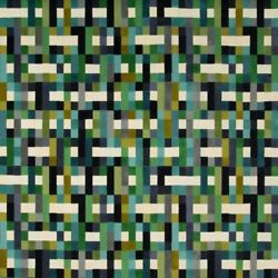LEE JOFA KRAVET COUTURE ABSTRACT VELVET FABRIC 10 YARDS PEACOCK TURQUOISE MULTI