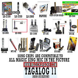 Tagalog 11 NEWest OPM POP Chip for Magic Sing karaoke Microphone MIC