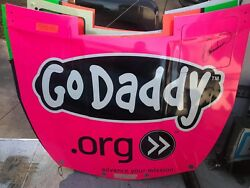 Danica Patrick Pink Breast Cancer Godaddy Signed Nascar Race Used Sheetmetal