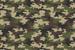 18 x 12 Camo HTV Heat Transfer Printed Tshirt Craft Vinyl Sheet Old School Army