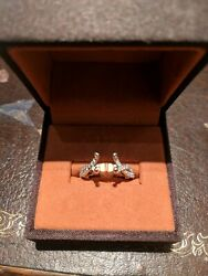New Verragio 18kt Rose and White Gold Engagement Ring