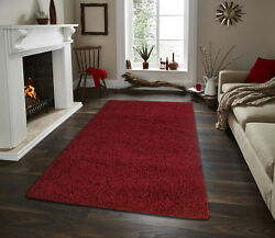 Shaggy Area Rugs Solid Colors Contemporary Living Room Carpet Decor $31.99