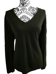WHITE STAG Black Long Sleeve Sweater V-Neck Pullover Size 2XL