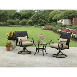Better Homes & Gardens Englewood Heights II Aluminum 3-Piece Outdoor Bistro Set