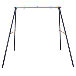 Heavy Duty Rustless Swing Set Frame Standing Yard Lawn Gift to Kids Max 220Lbs $51.99