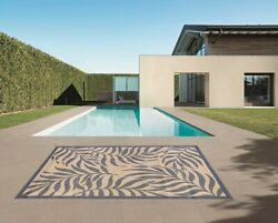 Indoor Outdoor Rugs Flatweave Contemporary Patio Pool Camp and Picnic Carpets $59.99