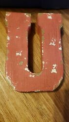 MAKE MARKET quot;Uquot; RUSTIC DECOR WALL HANGING $7.65