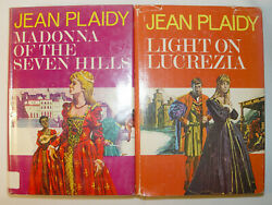 MADONNA OF THE SEVEN HILLS 1974 HCDJ 1st Ed & LIGHT ON LUCREZIA 1976 HCDJ 1st