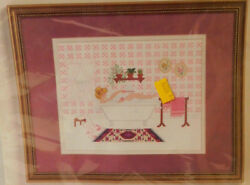 NIP Jessa Counts.. She Shed Vicrorian Bathtub design Counted Cross Stitch Kit