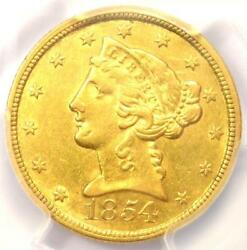 1854-C Liberty Gold Half Eagle $5 Charlotte Coin - PCGS AU55 - $4250 Value!