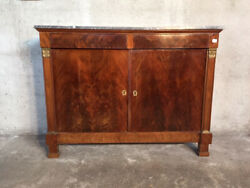 Antique and Elegant Empire Sideboard in Mahogany - Restored (in progress)