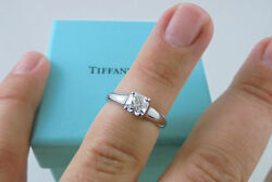 Authentic Tiffany & Co. 0.68ct F VS1 Lucida Diamond Engagement Ring