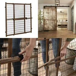 Evenflo Position and Lock Tall Pressure Mount Wood Gate Farmhouse $35.52