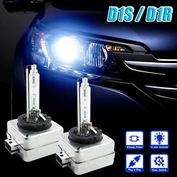 2x OEM 35W Pure White Replacement D1S D1R Xenon HID Headlight Low Beam Bulb