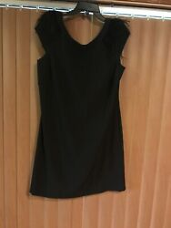 S.L.Fashions Black Cocktail Dress Size 16 $20.99