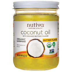 Nutiva Organic Coconut Oil with Buttery Flavor 14 fl oz Solid Oil. $12.78
