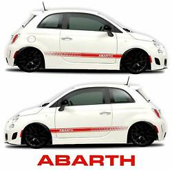 Side Decals car stickers Rocker Panel Racing Stripes (2 Sides Graphics red)