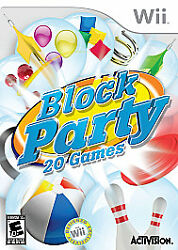 Block Party for Nintendo Wii WII Strategy Puzzle Video Game $6.94