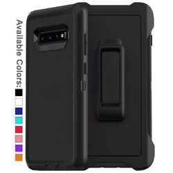 For Galaxy S10 Plus S10e Case Cover Shockproof Series Fits Defender Belt Clip $11.98