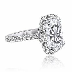 3.05 CT RADIANT CUT DVS1 DIAMOND SOLITAIRE ENGAGEMENT RING 14K WHITE GOLD
