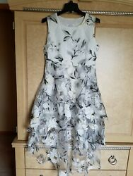 Xamp;Y Xingyu Fashion Formal Party Evening Dress... BNWOT White and Gray Floral $19.99