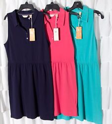 DOCKERS Polo Sleeveless Summer Dress Athletic Tennis Golf Beach Casual Sun Dress $12.50