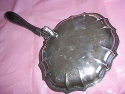 International Silver Plate Chippendale Silent Butler Crumb Tray Thumb Lid~ #6394