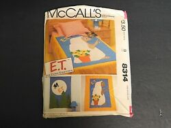 Vintage 1982 McCall's Sewing Pattern #8314 Child's (E.T.)Quilt & Wall Hanging