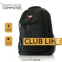 Handsome Man Brands Club Line Backpack - Black Fits 15