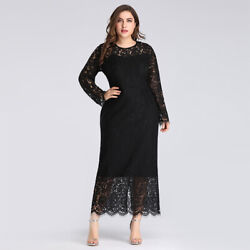 Ever Pretty US Plus Cocktail Gown Black Long Lace Mother Of Bride Dresses 03077 $46.99