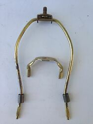 1 one VINTAGE attic stored LAMP shade HARP old parts 7 1 2quot; brass finish NICE $22.50