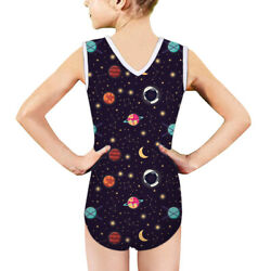 Planets Space Girls Swimwear Costume Swimsuit 1pcs Cute Bikinis Summer Ages 5 14 $16.99