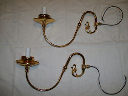 PAIR OF REPRODUCTION LAMP ARMS WIRED $13.99