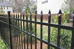 ALUMINUM  FENCE COMMERCIAL SPEAR TOP 72 in T x 8ft  W ASSEMBLED PANEL POOL CODE $149.00