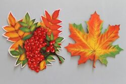 8 pcs Autumn Wall Decorations Cool Kids Party Cards 4 Ashberry amp; 4 Maple leaf $12.00
