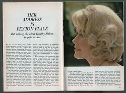 1965 TV GUIDE ARTICLE~PEYTON PLACE~DOROTHY MALONE~ACADEMY AWARD WINNING ACTRESS